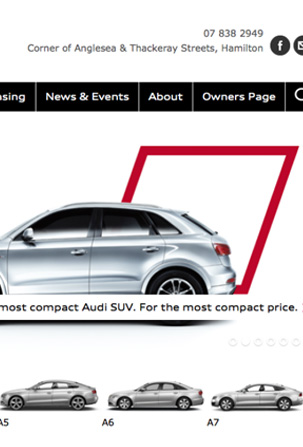 AUDI WEBSITE REFRESH