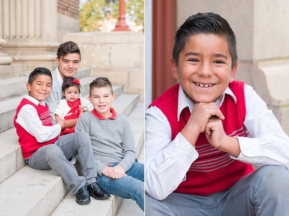 family portraits vintage courthouse white columns marble entry red gray black outfits_0320.jpg