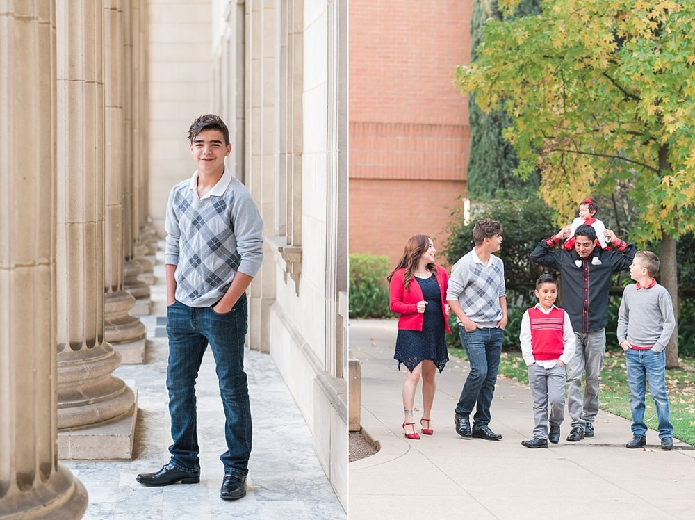 family portraits vintage courthouse white columns marble entry red gray black outfits_0326.jpg