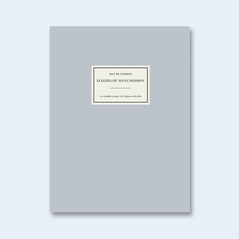 Max De Esteban Elegies Of Manumission Nazraeli Press Uk