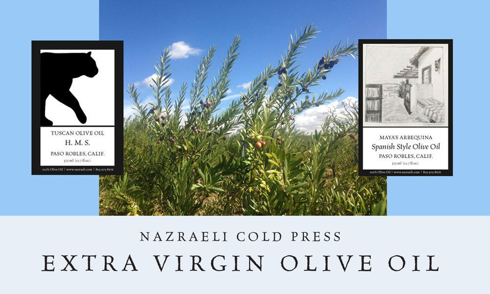 Nazraeli Cold Press Olive Oil from our 2018/19 Harvest is now shipping!  Order >
