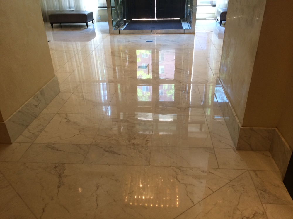 Marble Maintenance of Class A Condo in Bethesda MD