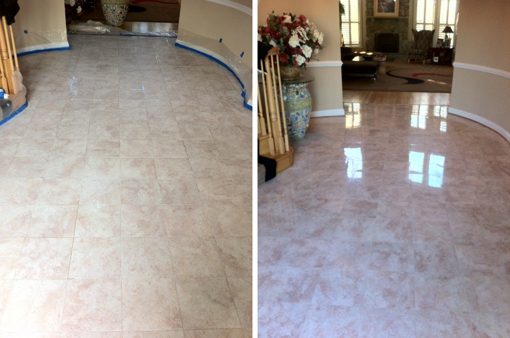 Polished Marble Foyer Before & After