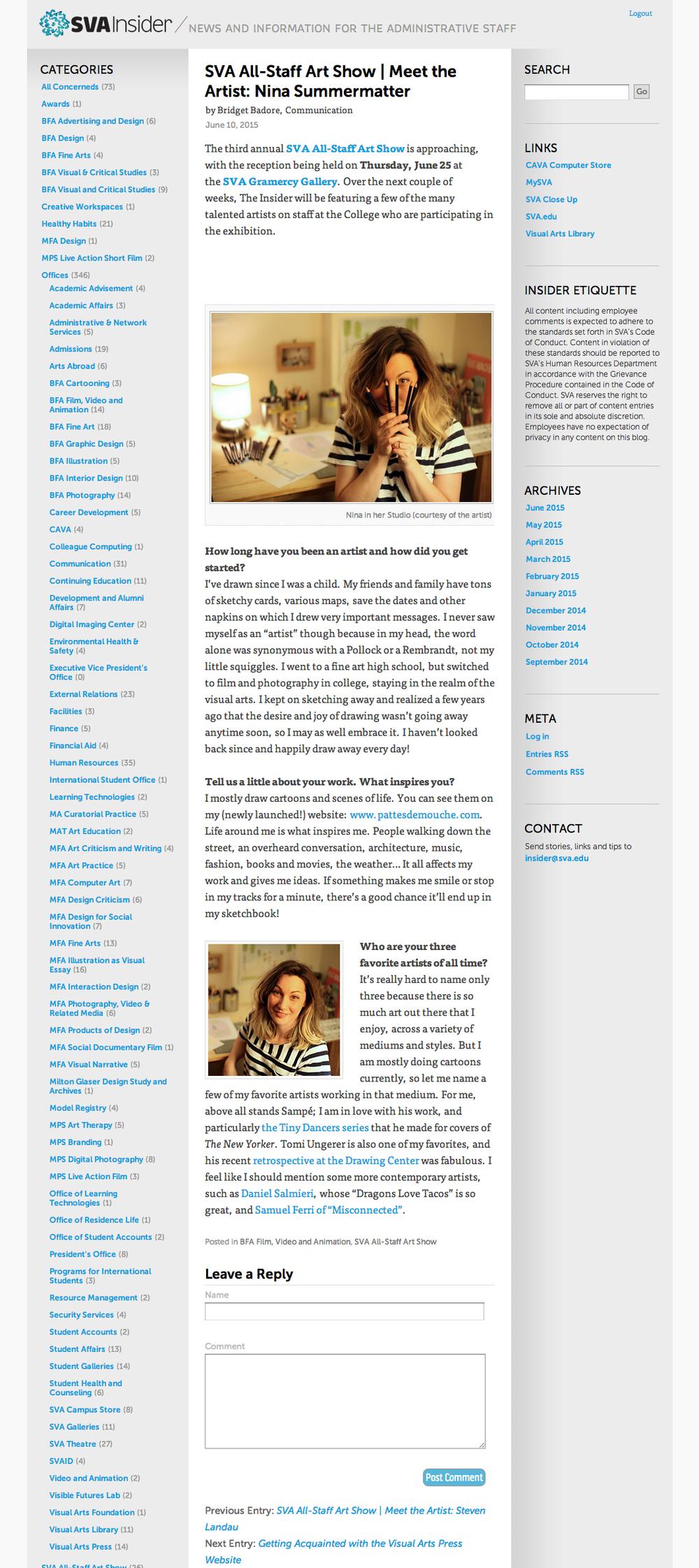 sva art show blog