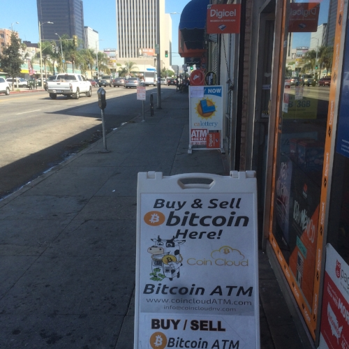 Street sign at 824 S Vermont Coin Cloud Bitcoin ATM