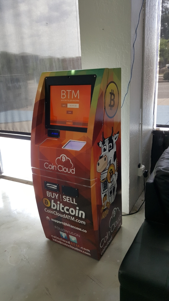 Buy and sell bitcoin at Vapor Vortex's Coin Cloud Bitcoin ATM