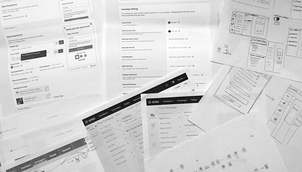 Extole Sketches/Wireframes