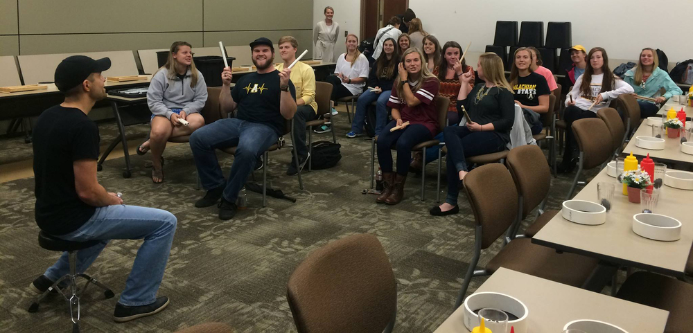 ASU Faculty of Education students experience a Number Drummer Workshop that focuses on Number Drummer as a creative teaching method.