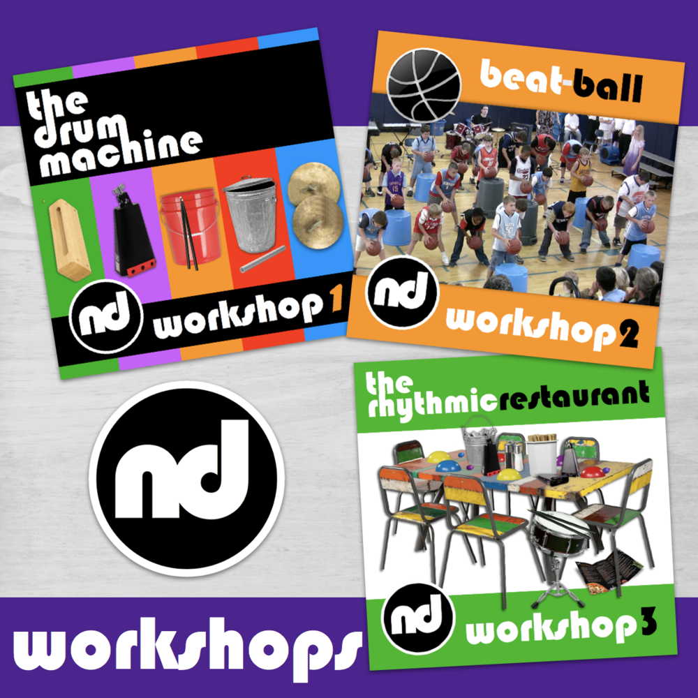 Number Drummer Workshops provide the opportunity for more individualized instruction and creativity..