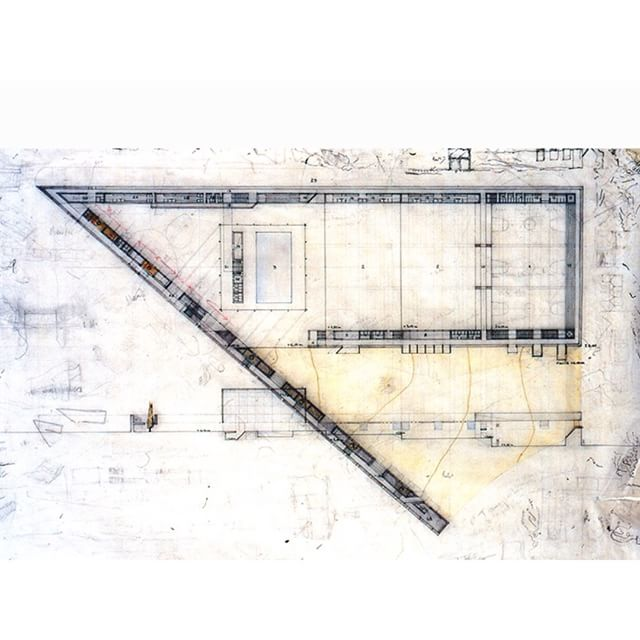 #jesusaparicio #drawing for a #Project for a Sports Centre in #Madrid #arquitectura #architecture #diseño #Design #concepts #ideas #handdrawing #floorplan www.jesusaparicio.net