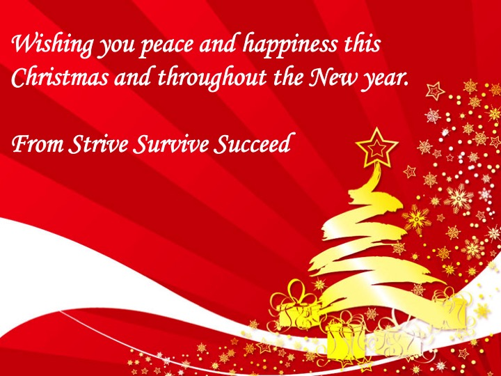 Merry Christmas And Happy New Year Strive Survive Succeed