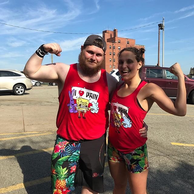 #Repost @mrsafy ・・・ Competing in our first competition today 💪🏾🏋🏼‍♂️ TropTHICC Thunder 🌺@crossfitmtlebanon @_crossfit519 @ndileo2587 @barbellvoodoo @flexcomics #myfitnessjourney #challengingmyself #powercouple #relationshipgoals #crossfit519 #CrossFitMtLebanon #crossfit #crossfitcouple #flexcomics #barbellvoodoo #spongebob #tropthiccthunder #tropical #iheartpain #comptrain #competition #firstcomp #LegendsOfLebo #selflove #swolfie #getswole #crossfitjourney #fitnerds #getbig