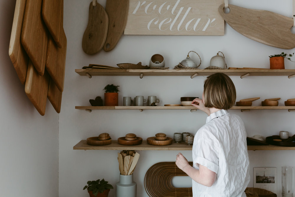 iuguy - it is a little shop online as well as inside my home. It is maker run and winnipeg based.THey aim to honour material, time, practice and place