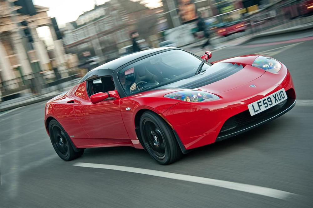 Tesla Roadster looking speedy