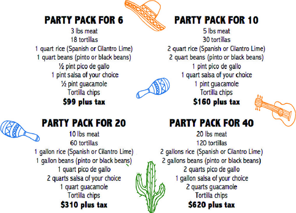 - Call 808-927-3720 or email admin@omg.menu to place your party pack order. Delivery available upon request for an additional fee.