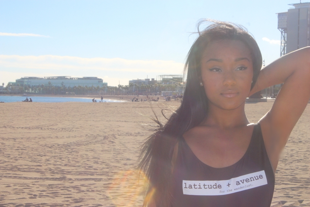 My gorgeous friend Alyssa in her Latitude and Avenue bathing suit! Merchandise coming soon.