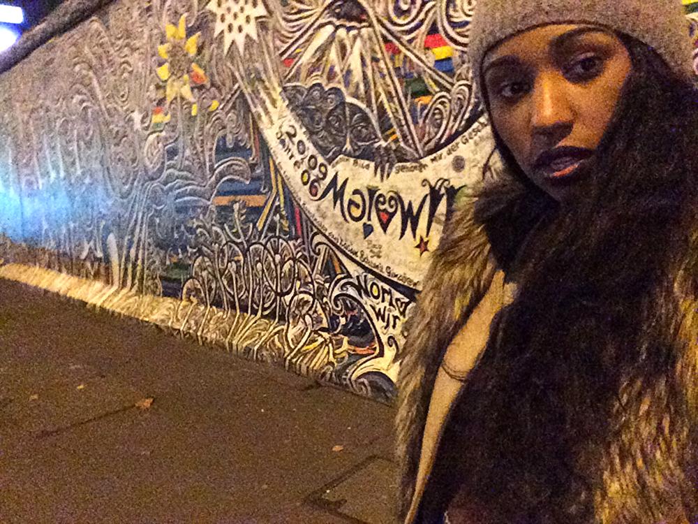 Berlin Wall selfie.