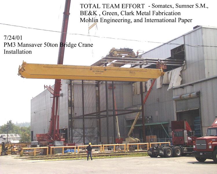 50 Ton Mansaver Papermill Bridge Crane