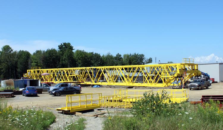 60 ton Somatex Truss Crane 221' span TRDG