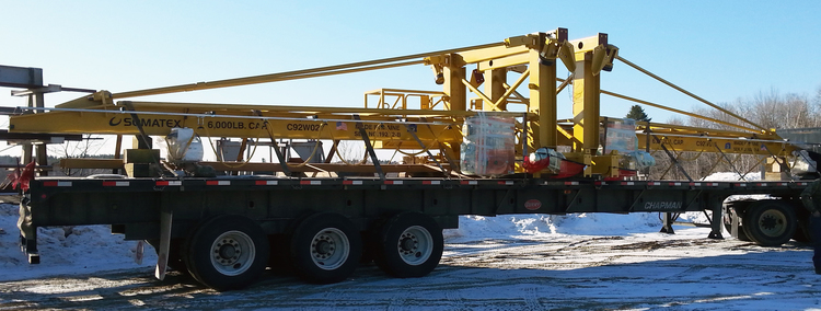 Two Wall Traveling 6,000 lb. Capacity Cranes