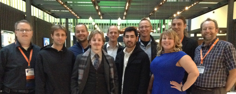 The Idaho contingent in the hotel lobby, HFES 2014.