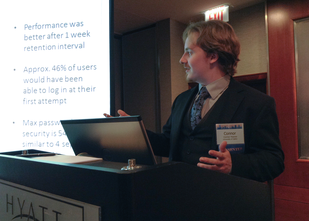 Connor's presentation on narrative passwords, Thursday at HFES 2014