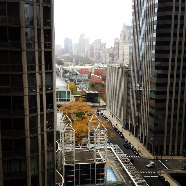 Our hotel room-with-a-view #HFES2014 #chicago