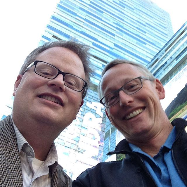Ron and me after long hot chocolate break #HFES2015