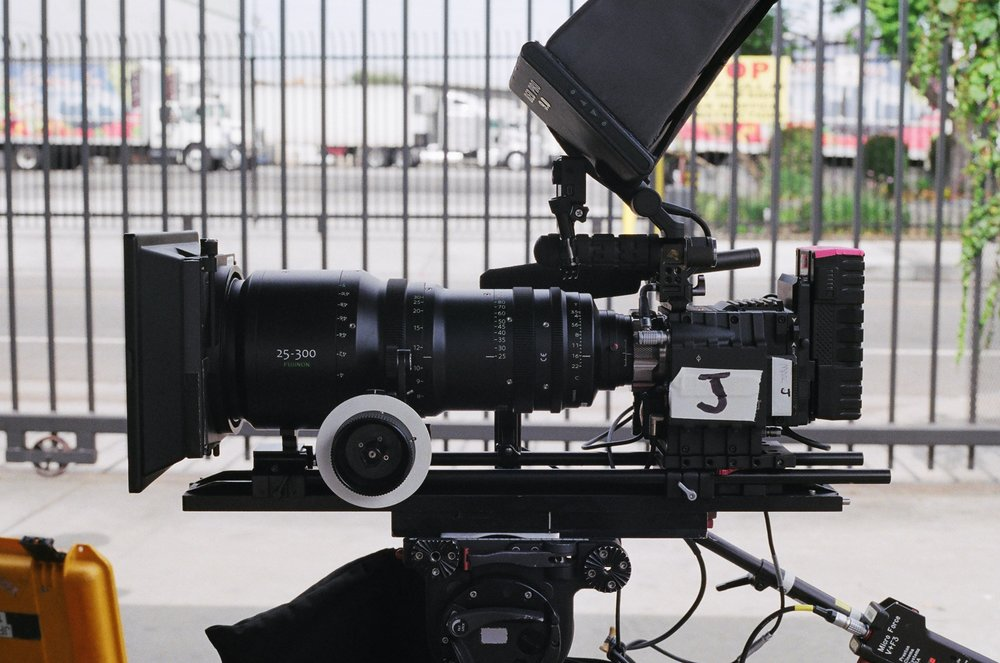 Red Epic / Fujinon 25-300 on set for Brainfarm's upcoming skateboarding project // 2014.