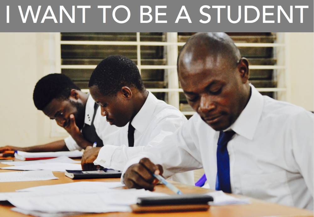I WANT TO BE A STUDENT