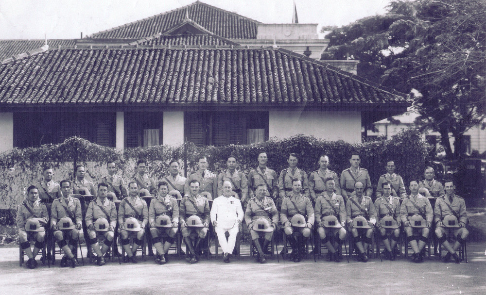 Malacca Volunteers - Herman 4th from left bottom row, circa 1937