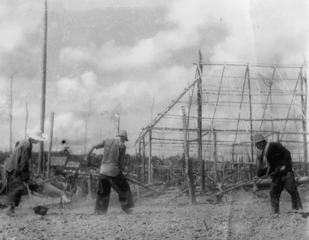 Chines settlers farming (Japanese Propaganda photograph)