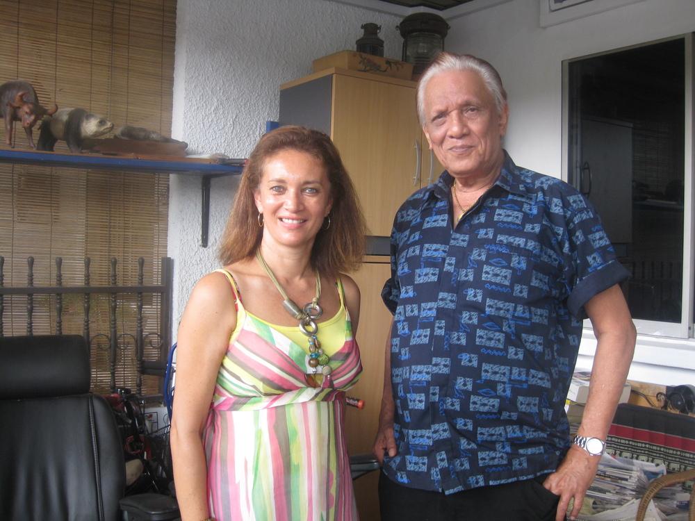 Author with Cedric Monteiro, in Singapore 2010
