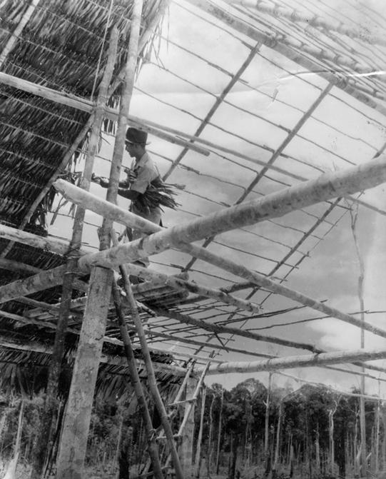 House building (Japanese propaganda photograph)
