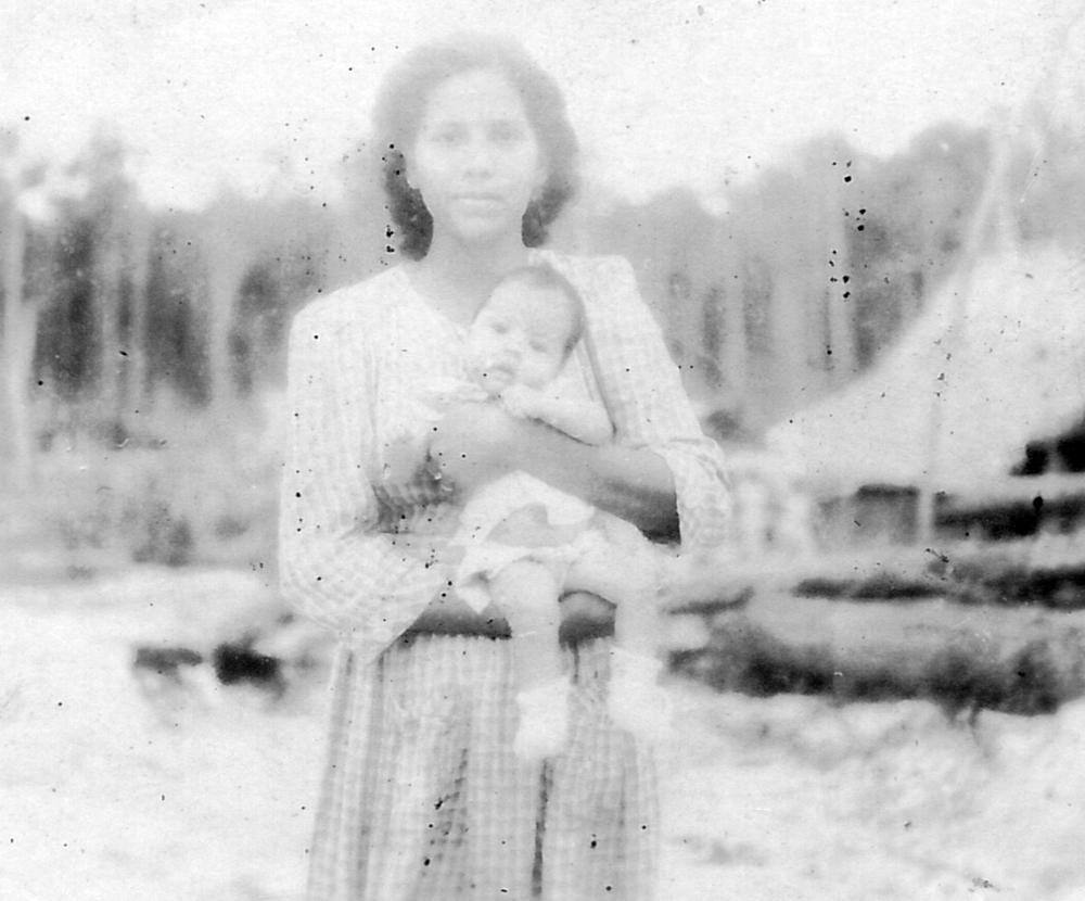 Thesie and Maureen Angus, Bahau circa 1943