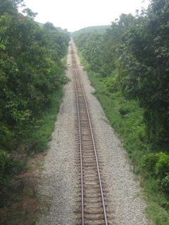 Railway going through where Mukim V once was. Note the thick jungle even today.