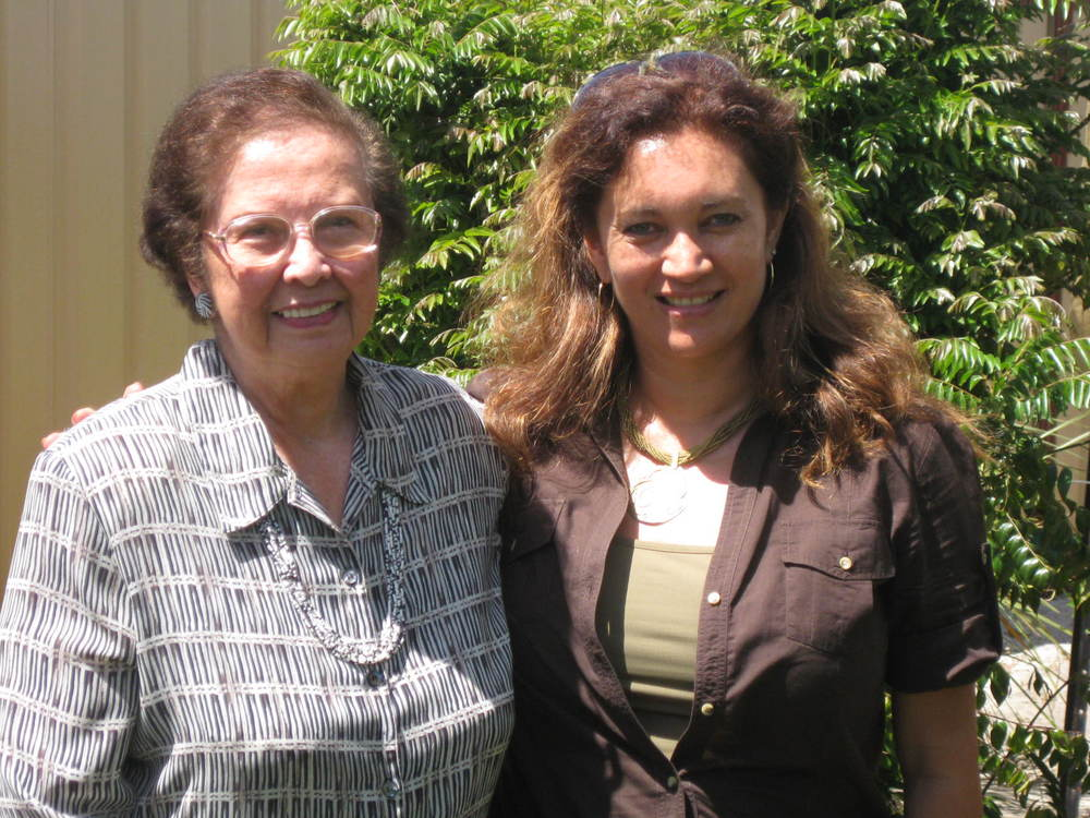 Gwen Perry (with author), in Perth 2009