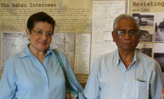Jean Hogan and Aloysius de Souza in Singapore, 2010