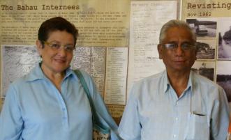 Jean Hogan and Aloysius de Souza in Singapore, 2010