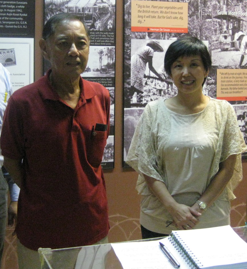 Sam Ong and his daughter, Gwen, at the Eurasian Association, in Singapore, 2010