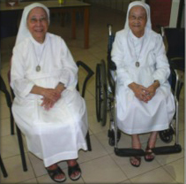 Sister Frances (left) and Sister Teresa (right), Singapore, 2009