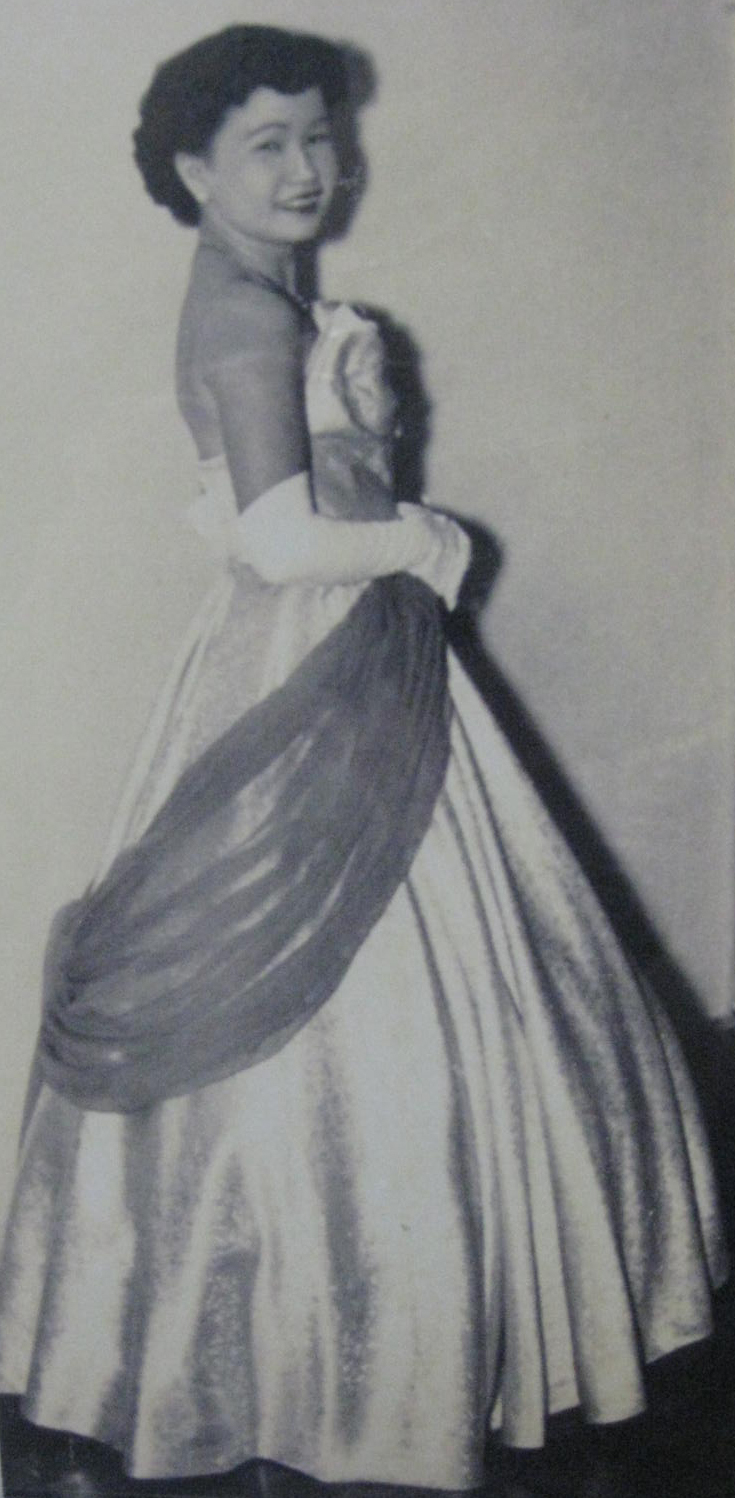 Emily Paglar in her coronation gown