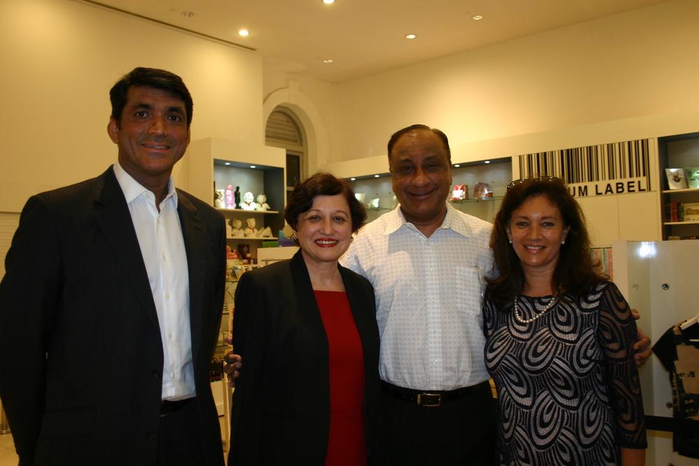 Bennet Theseira (President Eurasian Association), Justice Judith Prakash (Guest of Honour), Jaya Prakash and Fiona Hodgkins (Author)