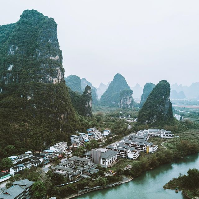 I have arrived in Yangshuo and the landscapes here are insane.