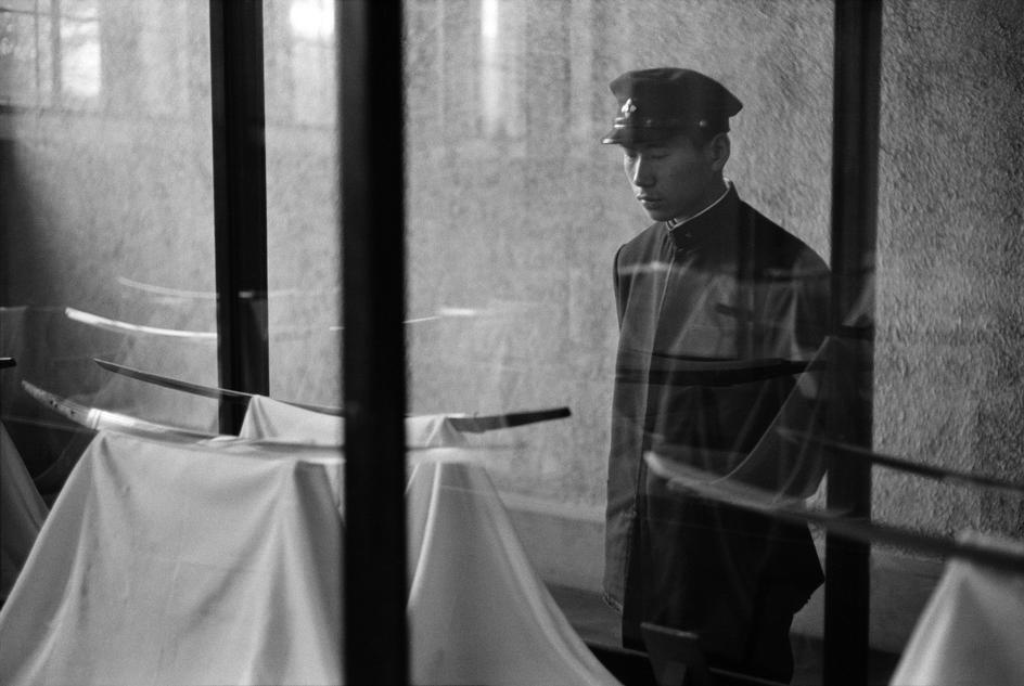 Student looking at an old Samurai sword at the National Museum. (1961 , Tokyo)   © Rene Burri/Magnum Photos