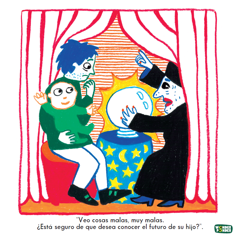 Escena de Lo que tú quieras, de la serie de Filosofía visual para niños (y no tan niños) de Wonder Ponder.