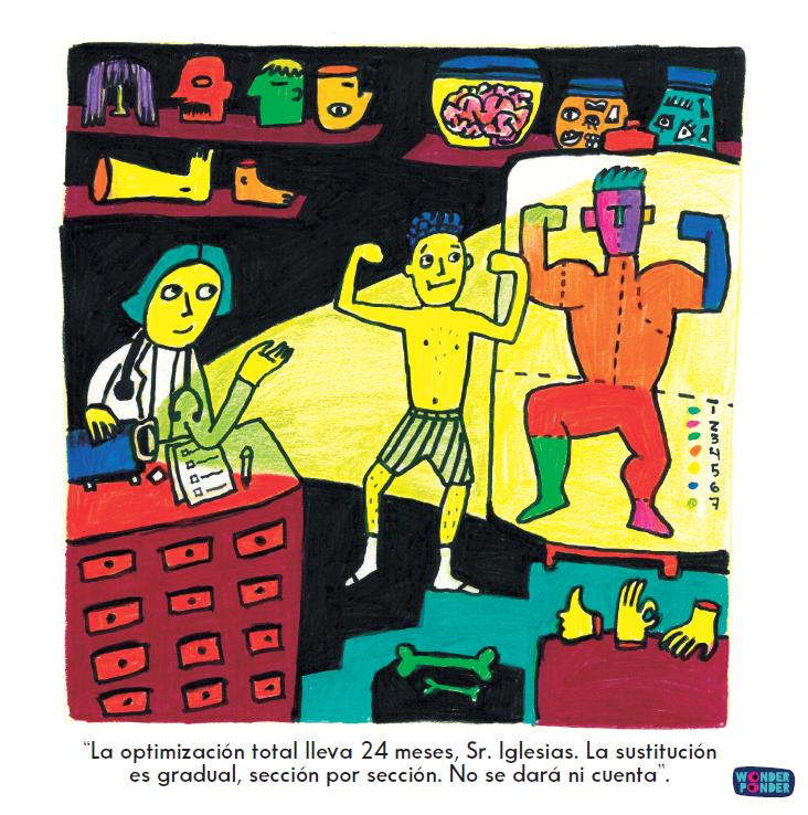 Escena de  Yo, persona , de la serie de Filosofía visual para niños (y no tan niños) de Wonder Ponder.