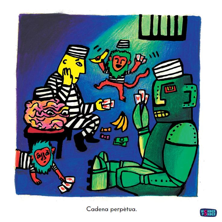 Escena de   Jo, persona  , de la sèrie de Filosofia visual per a nens (i no tant nens) de Wonder Ponder.