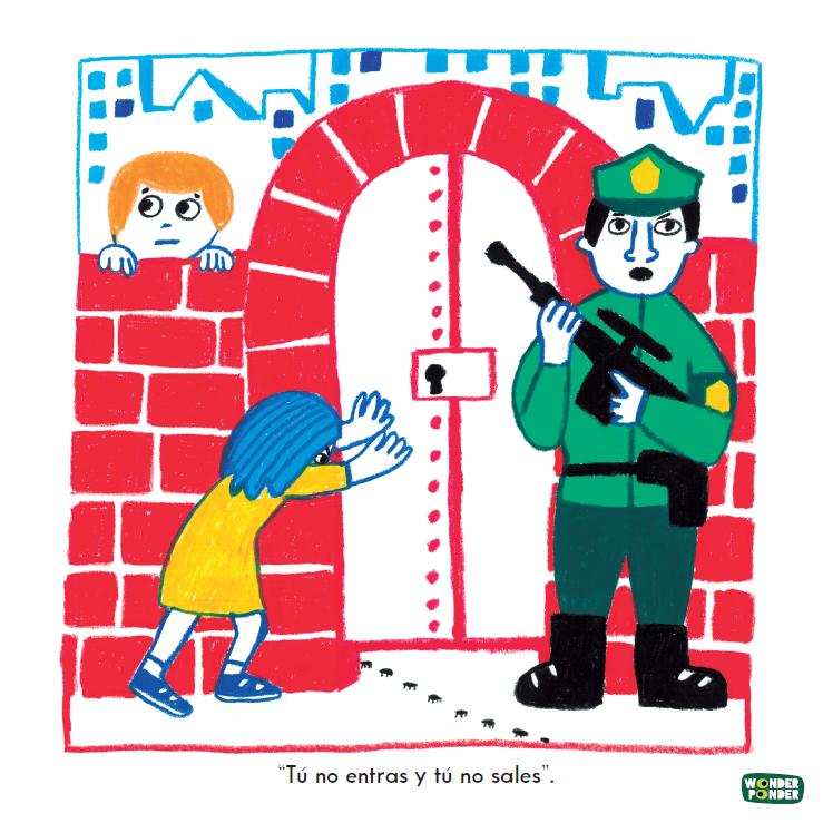 Escena de  Lo que tú quieras , de la serie de Filosofía visual para niños de Wonder Ponder. De Ellen Duthie y Daniela Martagón.