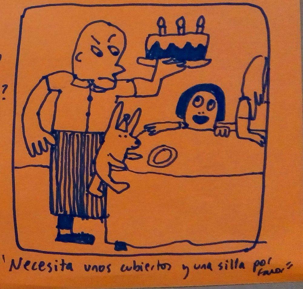 """Uno de los cientos de bocetos de exploración (de Daniela Martagón)que se están produciendo durante el proceso de creación del cuarto título de Filosofía visual para niños de Wonder Ponder. """"De verdad """"y """"de mentira"""""""